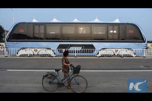 تصویر شاخص اتوبوس غولپیکر در چین